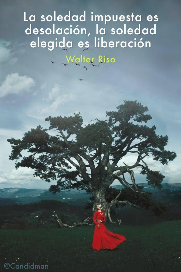 La soledad impuesta es desolación, la soledad elegida es liberación – Walter…
