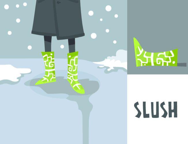 SLUSH. Fancy boots for slushy weather! -personal work by Luke Seguin-Magee