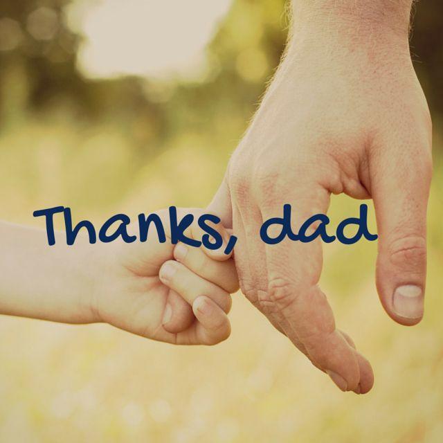 Grazie, papà. Questo è il nostro messaggio per la #festadelpapa Auguri a tutti i papà