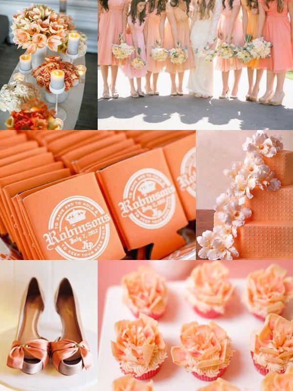 Planning A Perfect Summer Wedding Shades Orange Color Memorablewedding