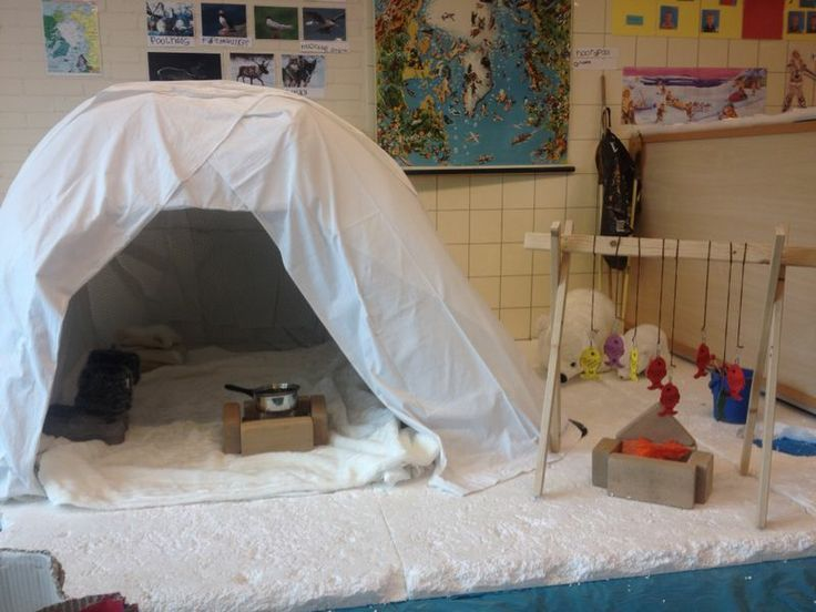 Arctic play area. Love the hanging fish.:
