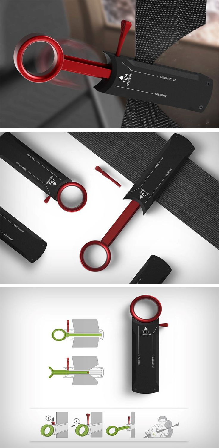 Cut-Save Life is a rather handy gadget designed to behave almost like an eject seat button. Sitting on your seat belt, the product comes with a ring that when pulled out, slices through the belt, breaking you free of the leash with a simple pull. The Cut-Save Life even comes with a safety pin that prevents the ring from being pulled out accidentally.
