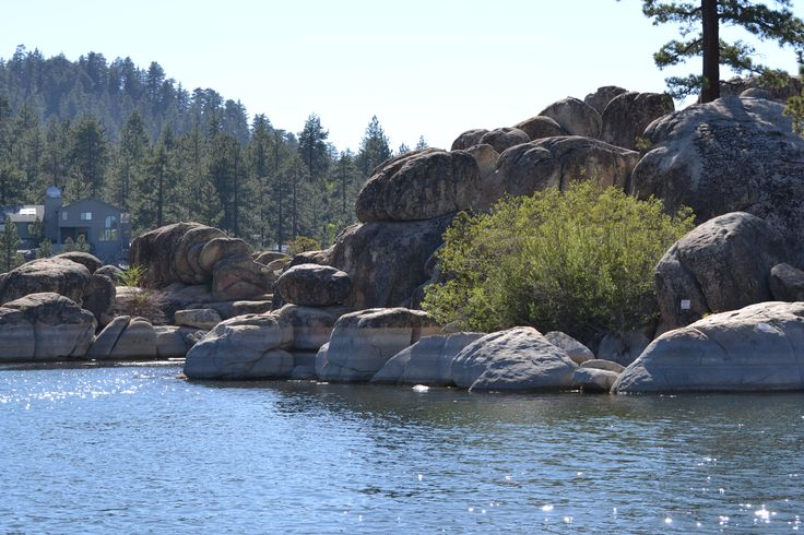 Boulder Bay - Big Bear Lake CA. Great for kayaking, canoeing, paddleboarding and fishing.