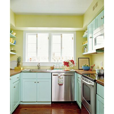 Aqua and lime green kitchen kitchen and dining spaces for Lime green kitchen ideas