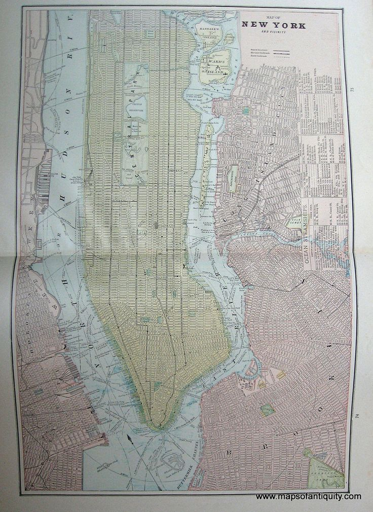 Map of New York and Vicinity 70
