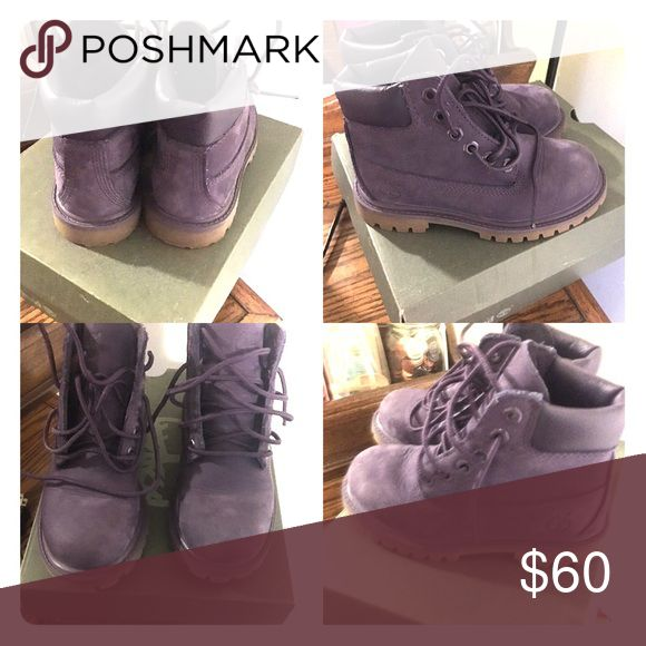 Purple timberland boots In excellent conditions only worn once. Timberland Shoes Boots