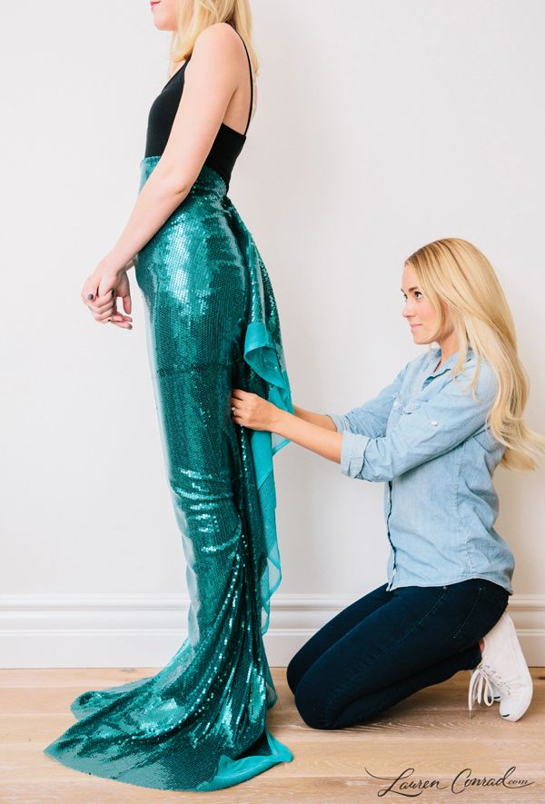 Lauren Conrad's DIY Mermaid Halloween Costume {easy to make and so cute}