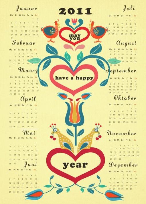 Calendar, year glance: Arti Scandinavian, Poster Frame-Black, Folk Arti, Retro Folklore Kalend, Prints, Photo