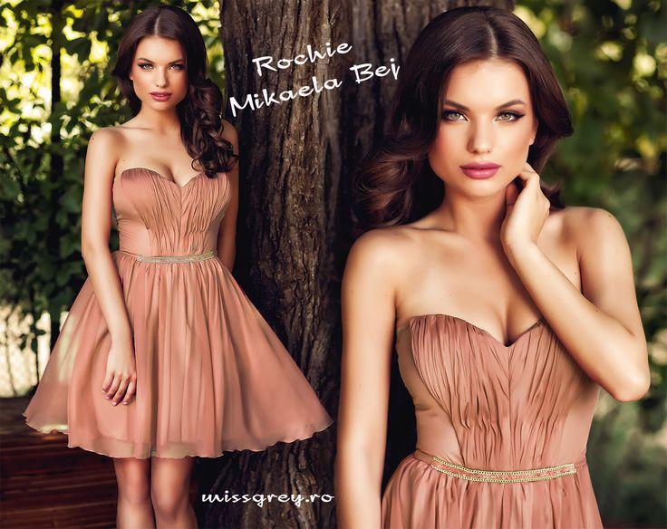 Short occasion dress made of nude silk veil: https://missgrey.ro/ro/vara/rochie-mikaela-bej/329?utm_campaign=colectie_iunie1&utm_medium=mikaela_bej&utm_source=pinterest_produs