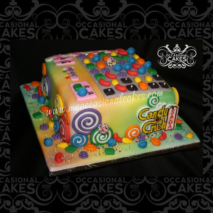 Candy Crush cake by Occasional Cakes