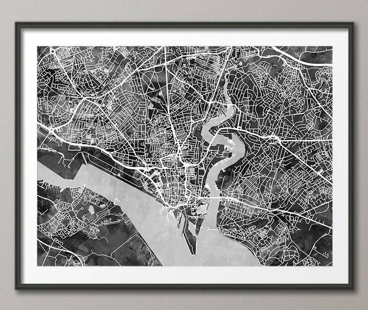 Southampton Map, Southampton Hampshire England City Street Map, Art Print (2795) by artPause on Etsy