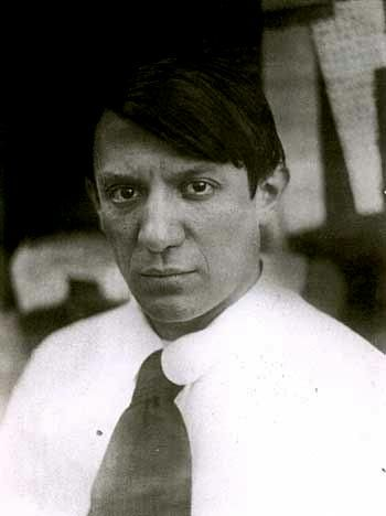 Pablo Picasso, born Pablo Ruiz y Picasso in Spain, 1881; died in France, 1973.  Along with Georges Braque, Picasso (considered a radical in his work) co-created Cubism.