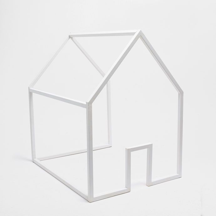 Image of the product White metal house structure