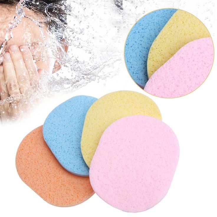 24 Stks/set Natuurlijke Fiber Gezicht Make Wassen Pad Spons Puff Peeling Scrub Kleur In Willekeurige