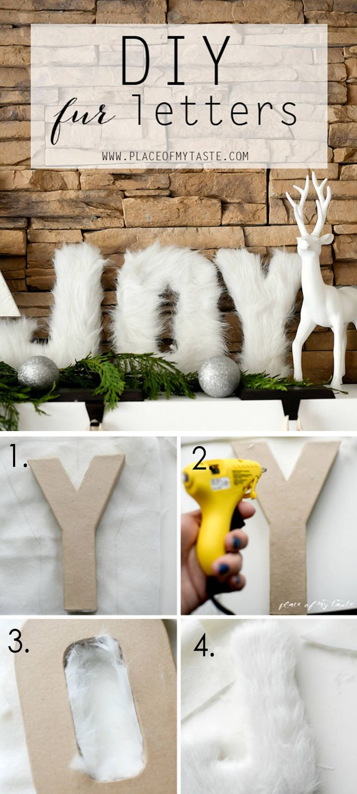 Warm and Fuzzy Mantel Decorations