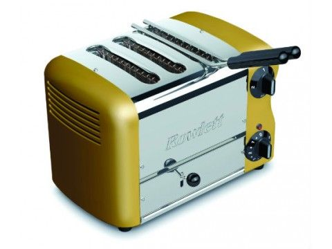 Rowlett Esprit 3 Slice Single Brunch Toaster in Gold - Toasters - Electronics