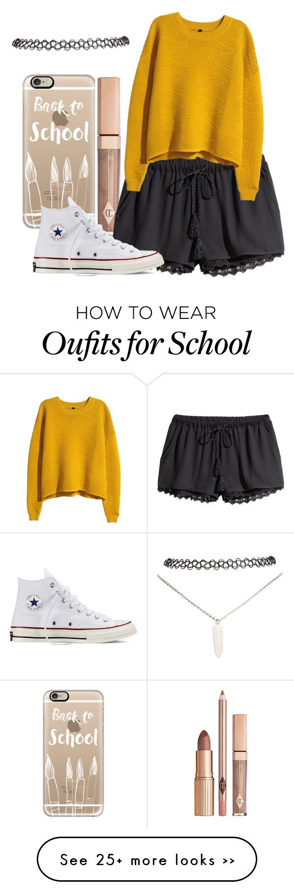 """back to school"" by princetonwife4life on Polyvore featuring Casetify, H&M, Converse and Wet Seal"