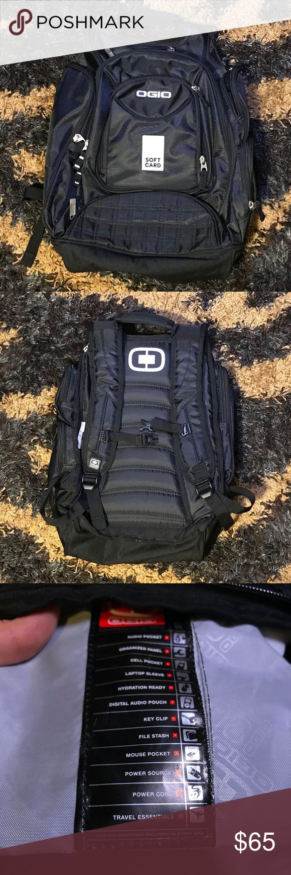 NWOT Ogio Backpack Unused and in perfect condition. Has more pockets and compartments than I can count. Protective carrying of your laptop with ample space for all your school, overnight, or work supplies. Great brand. High quality with excellent features. Ask any questions if you are curious to know more :) Ogio Bags Backpacks
