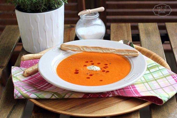 Supa crema de ardei copti - Creamy roasted pepper soup