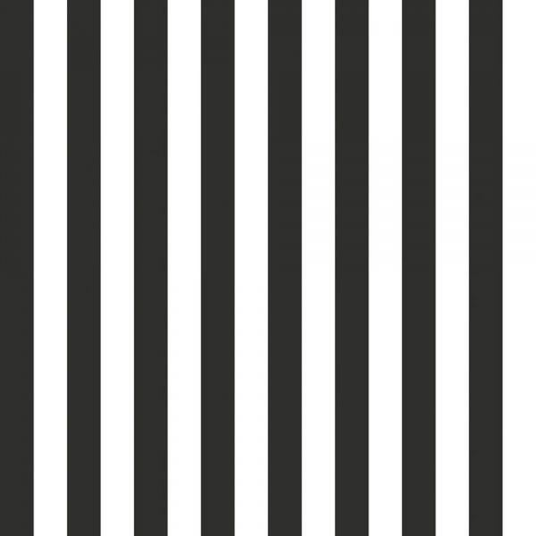 Randig tapet i svartvitt från kollektionen Marimekko 4 17959. Klicka för att se fler inspirerande tapeter för ditt hem!