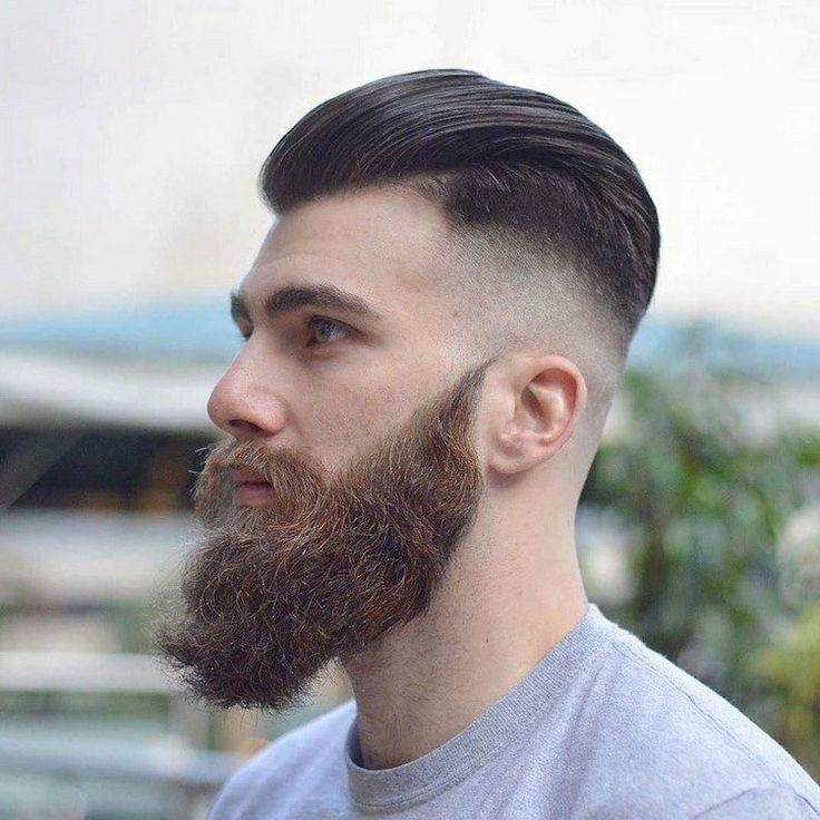 coiffure homme tendance -pompadour-undercut-barbe-longue