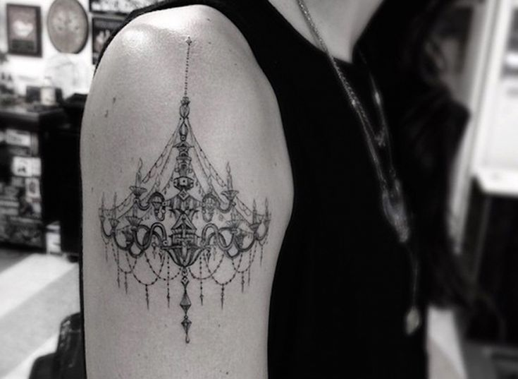 chandelier tattoo by the incredible Dr. Woo