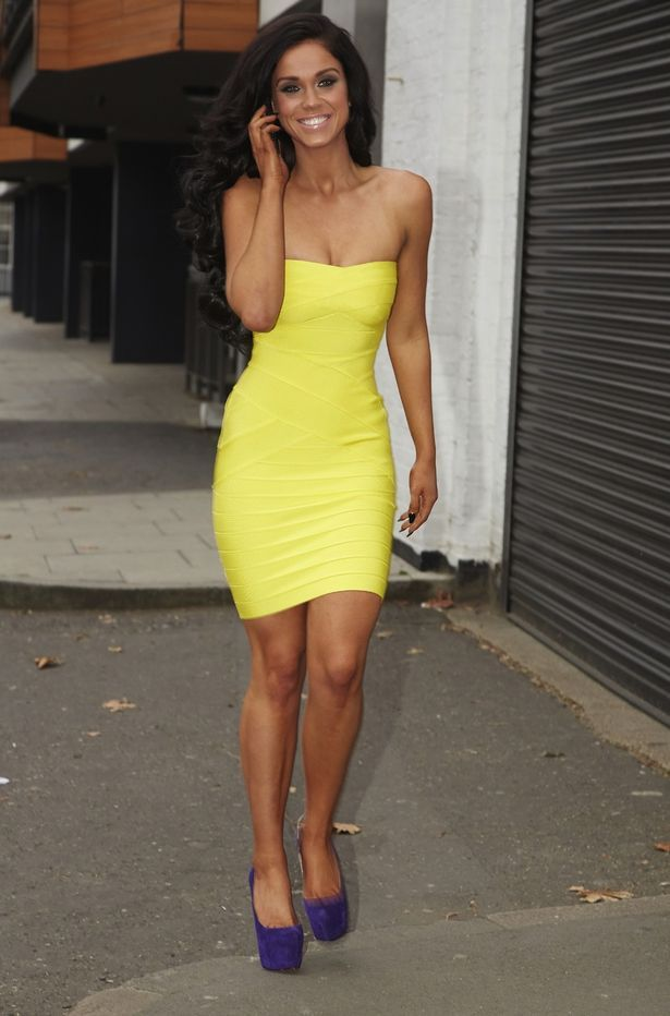 Yellow dress- Vicky Pattison