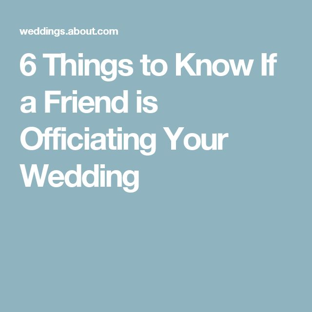 How to Have a Friend Officiate Your Wedding Weddings, Wedding and - new leave application letter format for brother marriage