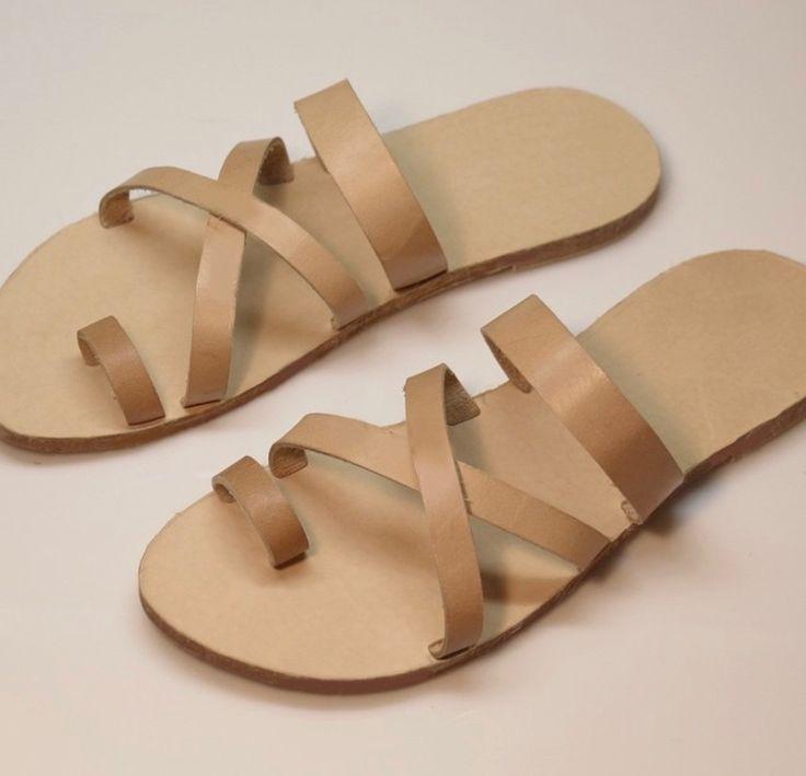 Handmade men leather fashion sandals