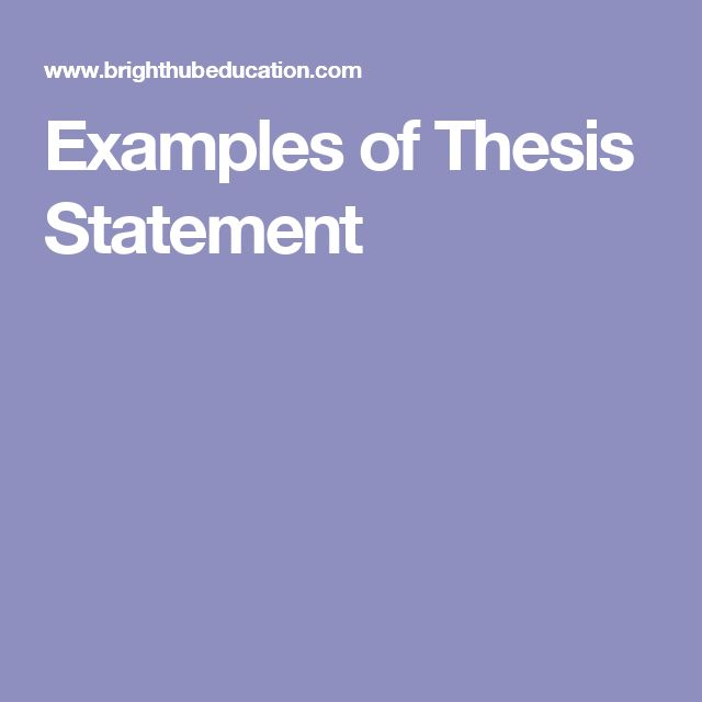 thesis statement three points