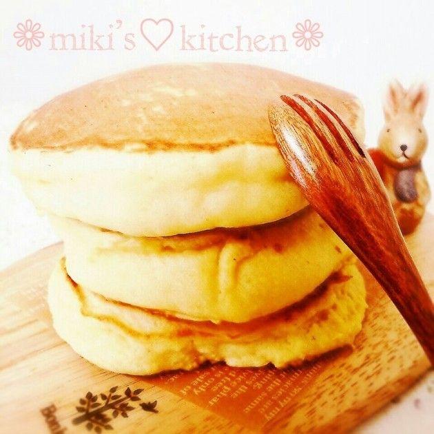 お豆腐マジック!分厚いホットケーキ♡ by 安里の嫁♡ [クックパッド] 簡単おいしいみんなのレシピが230万品