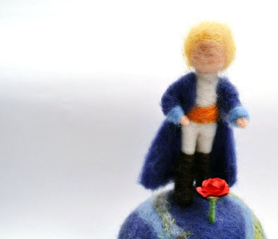 Needle Felted Little Prince  Le petit prince  by madamecraig