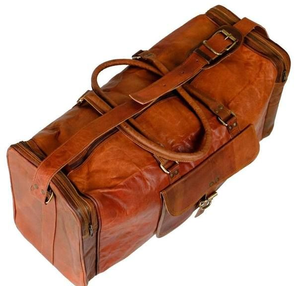 Buy Now Vintage Leather Weekender Duffle Bag. Available With Afterpay and Zippay !! Free Shipping Australia Wide. Perfect Leather Bag for Weekend Gateway.