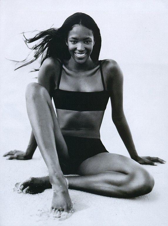 """Bikini Baby"" Naomi Campbell shot by Patrick Demarchelier for Harper's Bazaar"