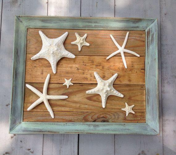 Starfish Reclaimed Wood Wall Art/Beach Art by My Honeypickles