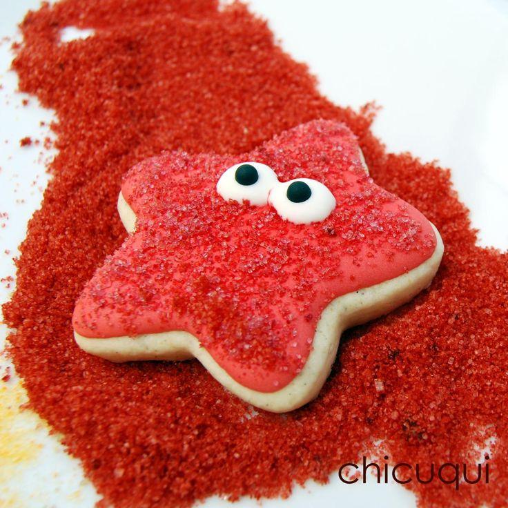 Dale color en casa al azúcar para decorar tus postres. Te ayudan desde el blog CHICUQUI.