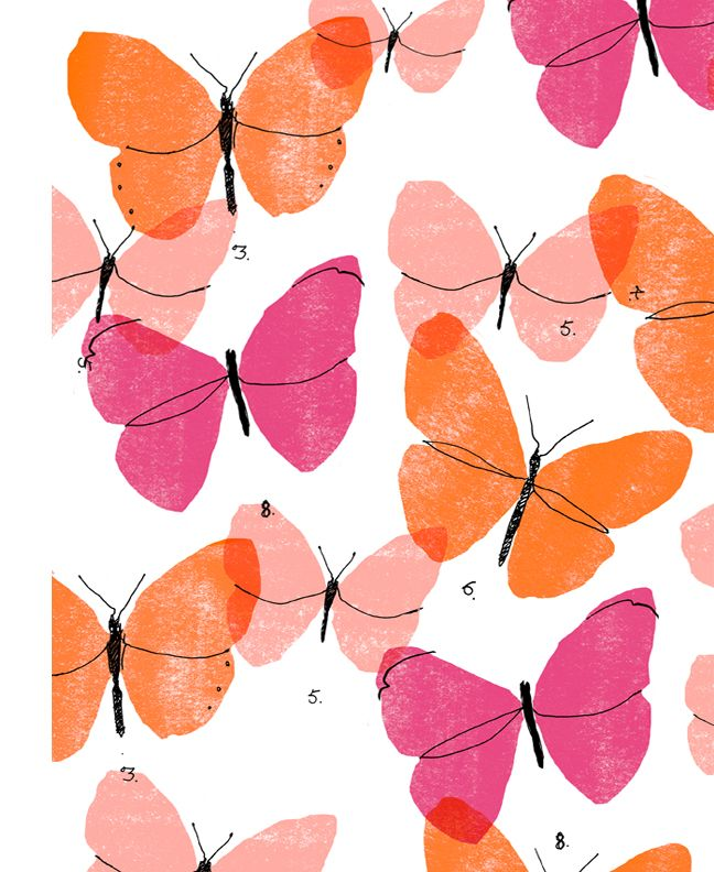 My butterfly pattern copyright Alanna Cavanagh 2015 #pattern #bedding…                                                                                                                                                                                 More