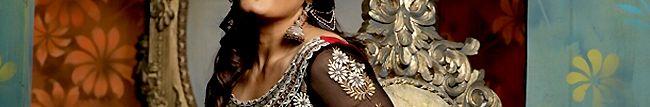 CSKH103 : Red and Black Georgette Anarkali Churidar Kameez with Dupatta