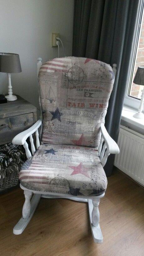 oude schommelstoel gepimpt