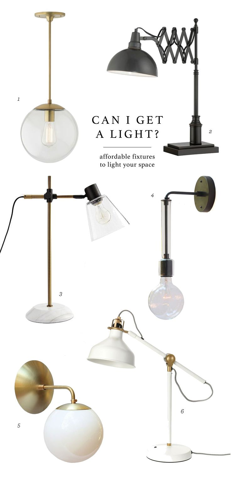 Can I get a light? Affordable lighting for your home.