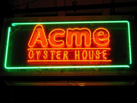 Acme Oyster House: One of the more popular oyster joints in New Orleans