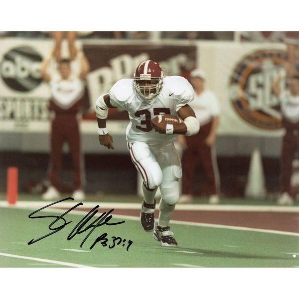 "Shaun Alexander Alabama Crimson Tide Fanatics Authentic Autographed 8"" x 10"" Open Field Run White Photograph - $49.99"