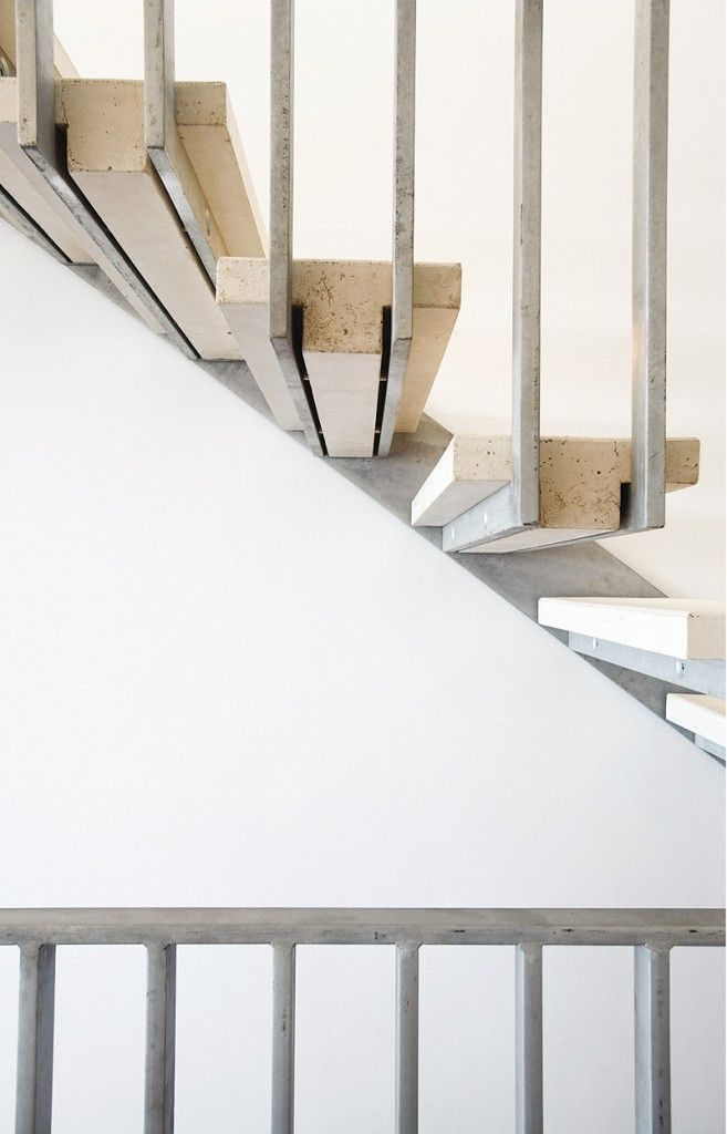 concrete tread stair / metal balustrade