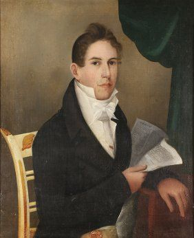 Lot:Painting, Portrait of Jonas Coe Heartt, Lot Number:2211, Starting Bid:$750, Auctioneer:Clars Auction Gallery, Auction:Painting, Portrait of Jonas Coe Heartt, Date:07:30 AM PT - Feb 21st, 2016