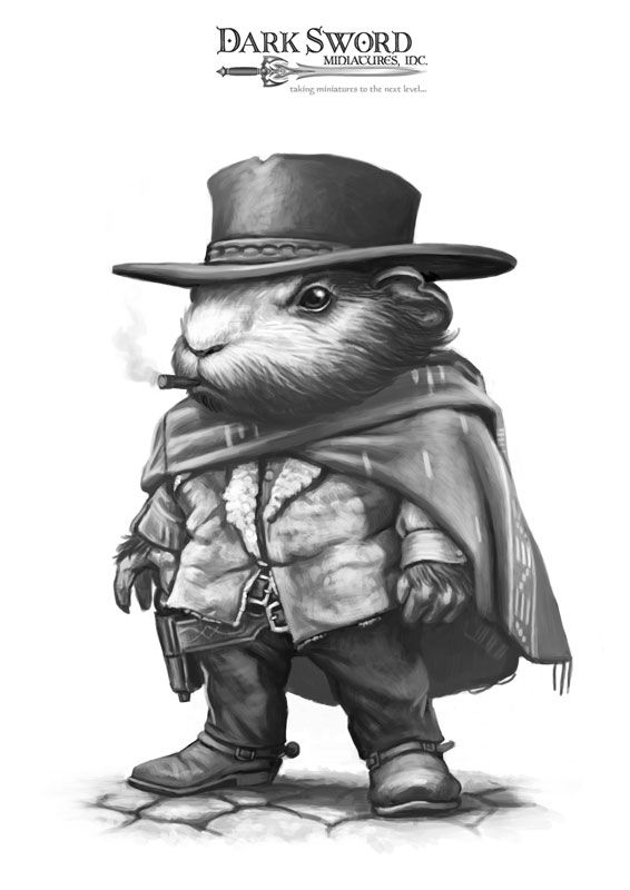 Guinea Pig With No Name - Critter Kingdoms™ Anthropomorphic Animals - Miniature Lines