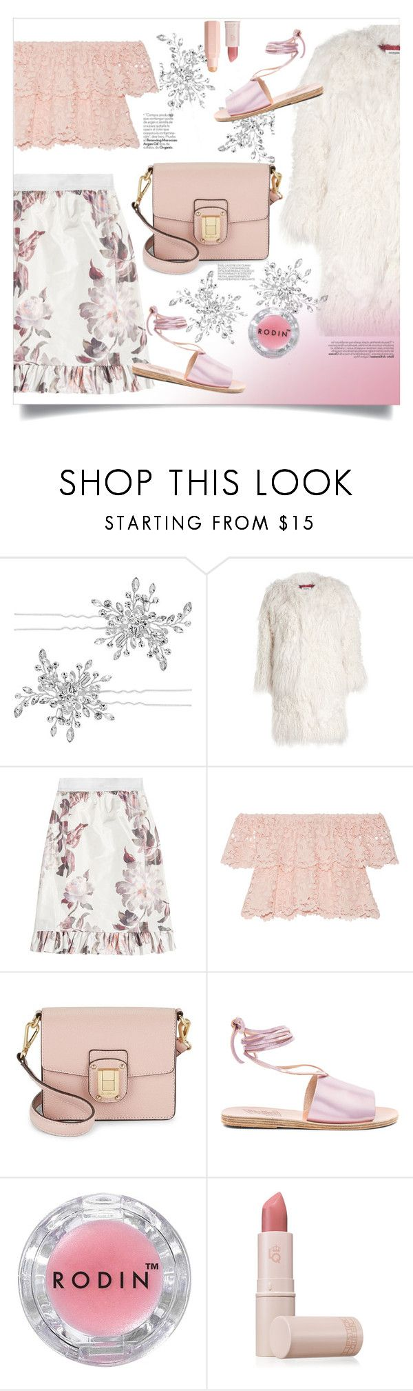 """""""Floral act"""" by devaanggraenii ❤ liked on Polyvore featuring Matthew Williamson, Zadig & Voltaire, Brock Collection, Miguelina, Sam Edelman, Ancient Greek Sandals, Rodin and Lipstick Queen"""