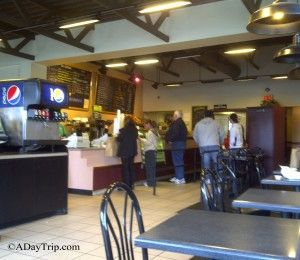 Inside of The Back Bay Bagel Company standing in line in Brockton MA    http://adaytrip.com/the-back-bay-bagel-company-brockton