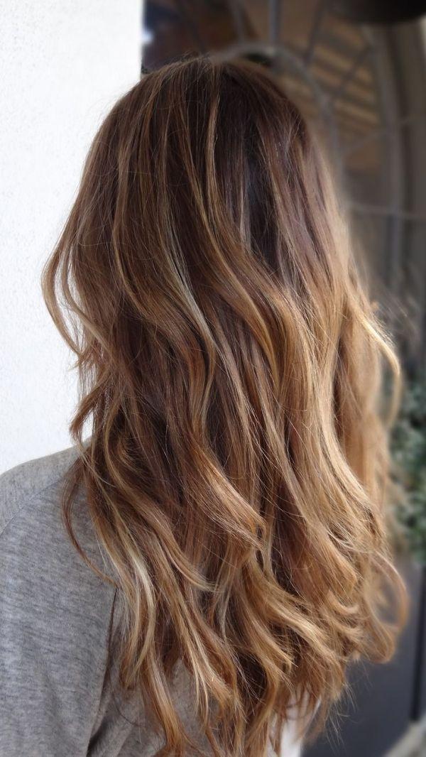 brown to blonde balayage