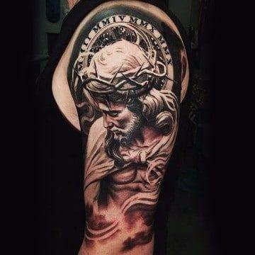 Retratos Y Diseños De Tatuajes De Jesus De Nazaret Tatuajes En El