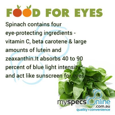Spinach is enriched with Vitamin C. Eating spinach keeps your eyes healthy